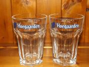 HOEGAARDEN HALF PINT GLASS x 2