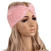ABC® Women Headwear Twist Sport Yoga Lace Headband Turban Headscarf Wrap