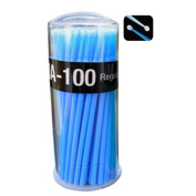 100Pcs Disposable Micro Applicator Brushes for Eyelash Extensions