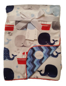 Sweet Lullaby Whales Newborn Boys Baby Reversible Blanket