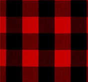 Crib Skirt in Red and Black Buffalo Plaid by AllTot