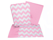 Baby Doll Chevron Pillowcase and Sheet set for Crib and Toddler bed, Pink