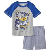 Toughskins Infant & Toddler Boys Going Bananas T-Shirt & Shorts Set
