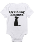 "T-Rex Apparel ""My Sibling Has Paws"" Dog"