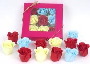 Valentine gift, Rose bath bombs, Nine Colourful Charming Rose bath bombs, 17go