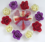 Rose bath bombs, nine colourful Rose bath bombs great for christmas gift.