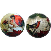 The English Soap Company Festive Tin Bauble - Robin & Child 90g