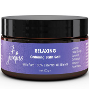7 Jardins Relaxing Calming Bath Salt with 100% Natural & Pure Therapeutic Grade Dead Sea and Epsom Salts with Essential Oils