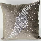Velvet Pillow - Galaxy Grey - 50cm x 50cm .