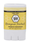 Handcrafted HoneyBee - Natural / Aluminium Free Probiotic Deodorant (Lemongrass Patchouli) (Travel-Size