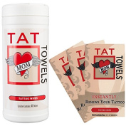 Tat Towels (NEW!) A Better Way to Moisturise and Enhance Your Tattoos Canister & Individual Packs Per Order  .