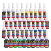 Solong Tattoo 40 Basic Colours Tattoo Ink Set Pigment Kit 1/6oz (5ml) Tattoo Supply for Tattoo Kit TI1001-5-40