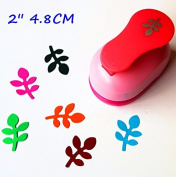 2 inch (about 4.8cm) leaf design of craft punch eva foam maker paper punches for scrapbooking by Fascola