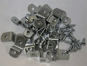 1cm Offset Clips 100 Pack With Screws