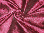 BROCADE FABRIC HOT PINK & BLACK VICTORIAN 110cm - Hobbies,Home decor,Sewing,Fashion,Doll Dress,Furnishing,Interior.