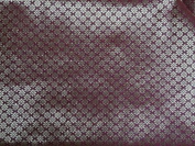 Brocade Fabric Lipstick Red X Metallic Gold Motif