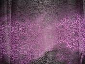 Brocade~width 110cm ~purple X Black Colour Floral Design