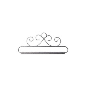 Ackfeld 88387 French Curls Grey Fabric Holder, 15cm - 1.3cm