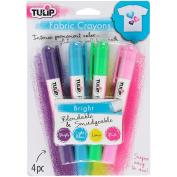 Tulip Fabric Colour Crayons 4/Pkg-Bright