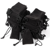 Anladia 50x Wholesale Velvet Drawstring Jewellery Wrapping Pouches Necklace Earrings Ring Gift Bags Organiser Storage