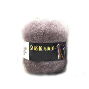 Hot Selling Mohair Yarn for Hand Knitting Wool Crochet Yarn to Knit Mink Wool Yarns Mohair Wool for Knitting : 08 Brown
