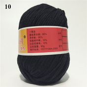 Soft Silk Fibre Cashmere Wool Yarns For Kids Eco-friendly Dyed Baby Yarn For Knitting Wholesale 50g/ball Colour 10