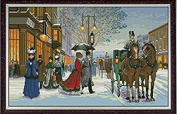 """Twilight in foreign country"" Printed Tapestry / Cross Stitch Needlework Set"