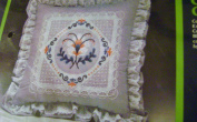Vintage Creative Expressions Misty Lace Pillow Chain Stitch Embroidery Kit 14 x 14