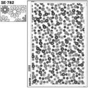 "Deleter Screen Tone Jr JR-158 [ Flower Pattern ] [Sheet Size 182x253mm (7.16""x9.96"")] For Comic Manga Illustration"