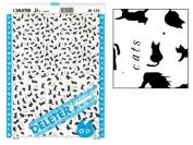 """Deleter Screen Tone Jr JR-155 [ Cat Pattern ] [Sheet Size 182x253mm (7.16""""x9.96"""")] For Comic Manga Illustration"""