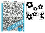 "Deleter Screen Tone Jr JR-154 [ Flower Pattern ] [Sheet Size 182x253mm (7.16""x9.96"")] For Comic Manga Illustration"