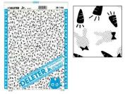 "Deleter Screen Tone Jr JR-146 [Rabbits and Carrots Pattern][Sheet Size 182x253mm (7.16""x9.96"")] For Comic Manga Illustration Graphic Screentone"