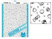 """Deleter Screen Tone Jr JR-143 [Candy and Sweets Pattern][Sheet Size 182x253mm (7.16""""x9.96"""")] For Comic Manga Illustration Graphic Screentone"""