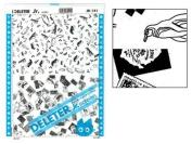 "Deleter Screen Tone Jr JR-141 [Penguins and Stamps Pattern][Sheet Size 182x253mm (7.16""x9.96"")] For Comic Manga Illustration Graphic Screentone"