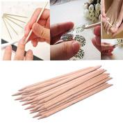Nail Art ,Baomabao 20Pcs Nail Art Wood Stick Cuticle Remover Pedicure Manicure Tool