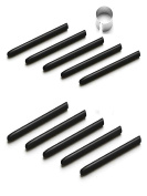 10 Pack Replacement Wacom Pen Standard Nib Black Stylus with Pen Removal Ring