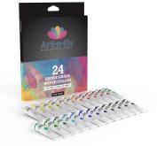 Watercolour Paint Set 24 Colours Professional Artist Grade Pigment Rich Water Colour Art Painting Kit