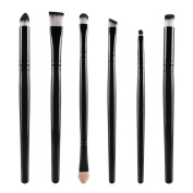 BUYITNOW Brush Set 6PCS Professional Cosmetic Makeup Lip Blushes Eye Eyeshadow Brushes Black