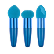 BUYITNOW Makeup Sponges Puff With Handle Comestic Foundation Powder Poam Brush Pen Blue