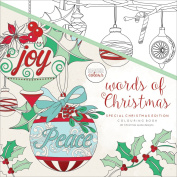 Kaisercolour Perfect Bound Colouring Book 25cm x 25cm -Words Of Christmas