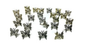 Butterfly Brads Silver/Gold Mix Metallic Paper Fasteners Scrapbooking
