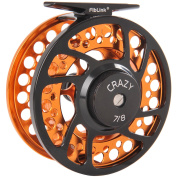 Fiblink Fly Fishing Reels with Large Arbour 2+1 BB, CNC machined Aluminium Alloy Body and Spool in Fly Reel Sizes 5/6, 7/8