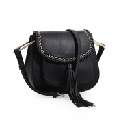 Heather Tassel Saddle Handbag