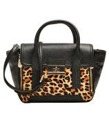 Louvier Leather Melissa Satchel, Black