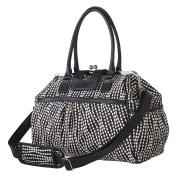 Trend Lab Waverly Baby Strands Tuxedo Framed Nappy Bag, Black, Cream