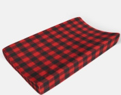 Changing pad cover in Red and Black Plaid by AllTot
