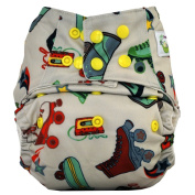 Sweet Pea Bamboo AIO Cloth Nappy, One Size, Roller Skate