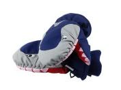 Warm Baby Gloves Waterproof Outdoor Ski Baby Hanging Mittens [Blue Shark]