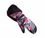 Warm Baby Gloves Waterproof Outdoor Ski Baby Hanging Mittens [Black Mitten]