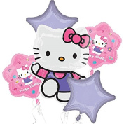 Hello Kitty Mylar Balloon Bouquet Birthday Decoration Party Favours Prizes Supply